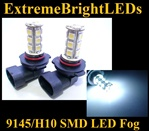 WHITE 9145 9140 H10 9005 SMD LED Fog Light Daytime Running Light Bulbs