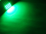 GREEN 12-LED SMD Panels fits all interior Light sockets
