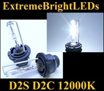 TWO 12000K Light BLUE with Purple tint D2S D2R D2C HID bulbs for factory HID equipped cars