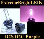 TWO Purple D2S D2R D2C HID bulbs for factory HID equipped cars