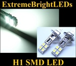 TWO Xenon HID WHITE 8-SMD LED H1 Driving or Fog Lights bulbs