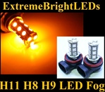 TWO Orange AMBER H11 H8 H9 SMD LED Fog Light Daytime Running Light Bulbs