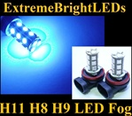 TWO Ultra BLUE H11 H8 H9 SMD LED Fog Light Daytime Running Light Bulbs