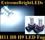 TWO Xenon HID WHITE H11 H8 H9 SMD LED Fog Light Daytime Running Light Bulbs