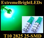 GREEN 25-SMD SMD LED Parking Backup 360 degree High Power bulbs