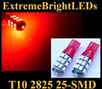 RED 25-SMD SMD LED Parking Backup 360 degree High Power bulbs