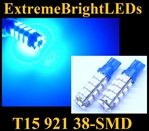 BLUE 38-SMD SMD LED Parking Backup 360 degree High Power bulbs