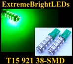 GREEN 38-SMD SMD LED Parking Backup 360 degree High Power bulbs
