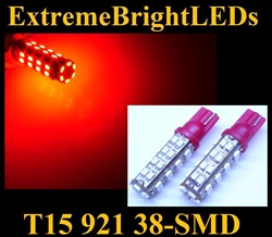 RED 38-SMD SMD LED Parking Backup 360 degree High Power bulbs