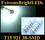 WHITE 38-SMD SMD LED Parking Backup 360 degree High Power bulbs