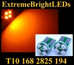 AMBER 4-SMD SMT High Power bulbs