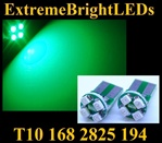 GREEN 4-SMD SMT High Power bulbs