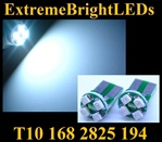 WHITE 4-SMD SMT High Power bulbs