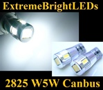 TWO Xenon HID WHITE 2825 W5W T10 168 6-SMD 5730 W5W 2825 Canbus Error Free LED Light Bulbs (Eyelid Parking License Plate)
