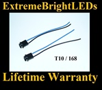 168 2825 921 T10 LED Halogen Light Harness Socket Plug